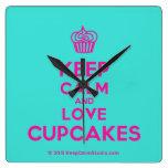 [Cupcake] keep calm and love cupcakes  Wall Clocks