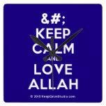 [No Crown] keep calm and love allah  Wall Clocks