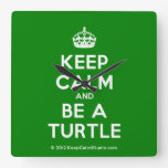 [Crown] keep calm and be a turtle  Wall Clocks