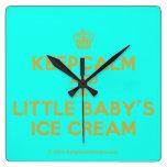 [Cupcake] keepcalm and eat little baby's ice cream  Wall Clocks