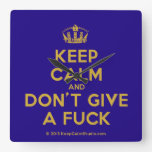 [Dancing crown] keep calm and don't give a fuck  Wall Clocks