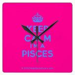 [Crown] keep calm i'm a pisces  Wall Clocks