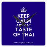 [Crown] keep calm and eat taste of thai  Wall Clocks