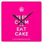 [Cupcake] keep calm and eat cake  Wall Clocks