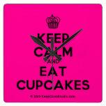 [Cupcake] keep calm and eat cupcakes  Wall Clocks