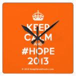 [Crown] keep calm and #hope 2013  Wall Clocks