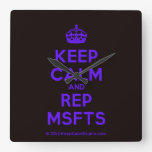 [Crown] keep calm and rep msfts  Wall Clocks