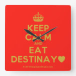 [Crown] keep calm and eat destinay♥  Wall Clocks