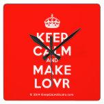 [Crown] keep calm and make lovr  Wall Clocks