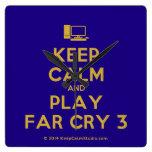 [Computer] keep calm and play far cry 3  Wall Clocks