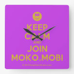 [Smile] keep calm and join moko.mobi  Wall Clocks