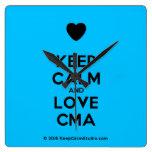 [Love heart] keep calm and love cma  Wall Clocks