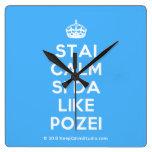 [Crown] stai calm si da like pozei  Wall Clocks