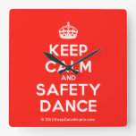 [Crown] keep calm and safety dance  Wall Clocks