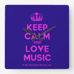 [Dancing crown] keep calm and love music  Wall Clocks