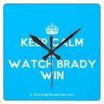 [Crown] keep calm and watch brady win  Wall Clocks