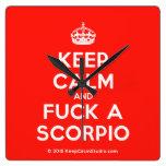 [Crown] keep calm and fuck a scorpio  Wall Clocks