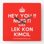 [Crown] hey you !! ngerti gak lek kon kimcil  Wall Clocks
