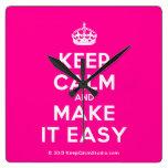 [Crown] keep calm and make it easy  Wall Clocks