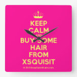 [Knitting crown] keep calm and buy some hair from xsquisit  Wall Clocks