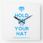 [Crown upside down] hold on to your hat  Wall Clocks