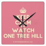 [Crown] keep calm and watch one tree hill  Wall Clocks