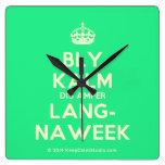 [Crown] bly kalm dis amper lang- naweek  Wall Clocks