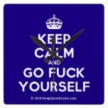 [Crown] keep calm and go fuck yourself  Wall Clocks