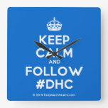 [Crown] keep calm and follow #dhc  Wall Clocks