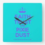 [Knitting crown] faith trust and pixie dust  Wall Clocks