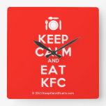 [Cutlery and plate] keep calm and eat kfc  Wall Clocks
