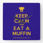 [Chef hat] keep calm and eat a muffin  Wall Clocks