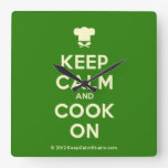 [Chef hat] keep calm and cook on  Wall Clocks