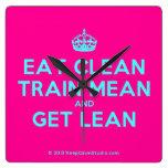 [Crown] eat clean train mean and get lean  Wall Clocks