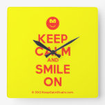 [Smile] keep calm and smile on  Wall Clocks