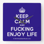 [Crown] keep calm and fucking enjoy life  Wall Clocks