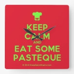 [Chef hat] keep calm and eat some pasteque  Wall Clocks