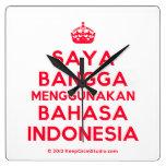 [Crown] saya bangga menggunakan bahasa indonesia  Wall Clocks