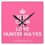 [Crown] keep calm and love hunter hayes  Wall Clocks