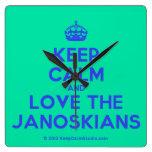 [Crown] keep calm and love the janoskians  Wall Clocks
