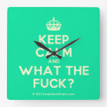 [Crown] keep calm and what the fuck?  Wall Clocks