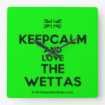 [UK Flag] keepcalm and love the wettas  Wall Clocks