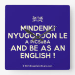 [UK Flag] mindenki nyugodjon le a picsába and be as an english !  Wall Clocks