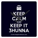 [Campervan] keep calm and keep it 3hunna  Wall Clocks