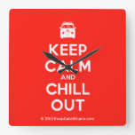 [Campervan] keep calm and chill out  Wall Clocks