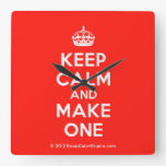 [Crown] keep calm and make one  Wall Clocks