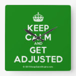[Crown] keep calm and get adjusted  Wall Clocks