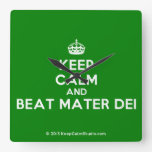 [Crown] keep calm and beat mater dei  Wall Clocks