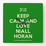 [UK Flag] keep calm and love niall horan  Wall Clocks