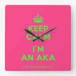 [Crown] keep calm i'm an aka  Wall Clocks